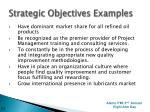 strategic objectives examples