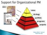 support for organizational pm3