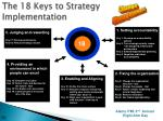 the 18 keys to strategy implementation