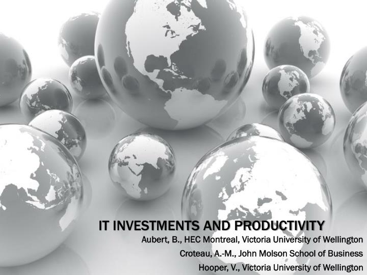 it investments and productivity n.