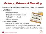 delivery materials marketing