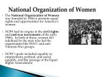national organization of women