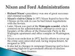 nixon and ford administrations