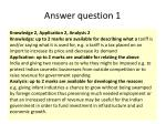 answer question 1