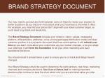 brand strategy document
