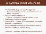creating your visual id