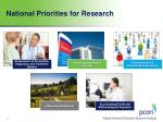 national priorities for research