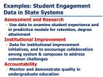 examples student engagement data in state systems