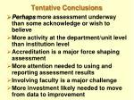 tentative conclusions
