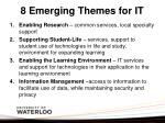 8 emerging themes for it