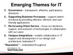 emerging themes for it