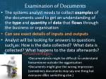 examination of documents