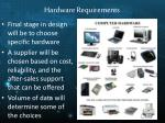 hardware requirements