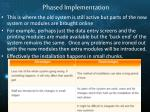 phased implementation1