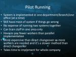 pilot running