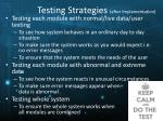 testing strategies after implementation