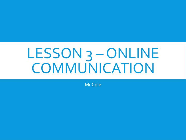 lesson 3 online communication n.