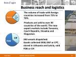 business reach and logistics
