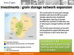 investments grain storage network expansion