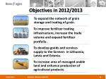 objectives in 2012 2013