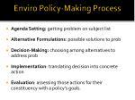 enviro policy making process
