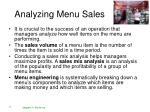 analyzing menu sales