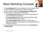 basic marketing concepts