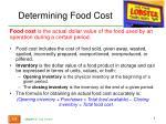 determining food cost