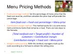 menu pricing methods