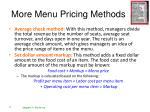 more menu pricing methods