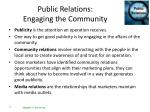 public relations engaging the community