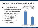 kentucky s property taxes are low