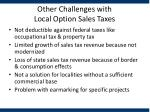 other challenges with local option sales taxes