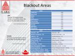 blackout areas