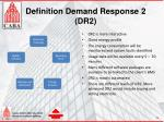 definition demand response 2 dr2
