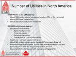number of utilities in north america