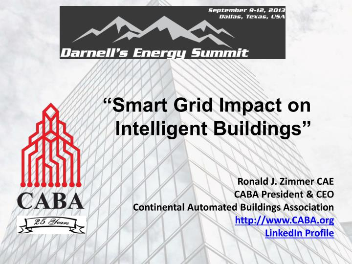 smart grid impact on intelligent buildings n.