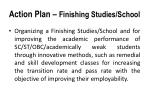 action plan finishing studies school