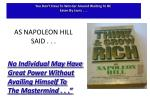 as napoleon hill said