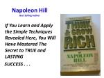 napoleon hill best selling author