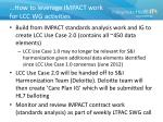 how to leverage impact work for lcc wg activities