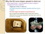 why the as curve slopes upward in short run