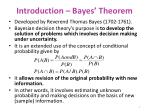 introduction bayes theorem