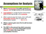 assumptions for analysis1