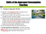 shifts of the aggregate consumption function3