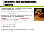 the interest rate and investment spending
