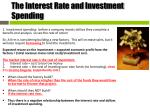 the interest rate and investment spending1