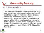 overcoming diversity