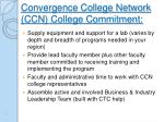 convergence college network ccn college commitment