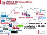 map of ssc s cc s success stor ies top destinations